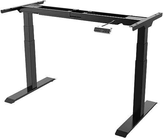 elektrisch stufenlos h/öhenverstellbarer Schreibtisch mit Kollisionschutz Schwarz Memory-Steuerung und Softstart//Stop Funktion SANODESK EZ1
