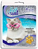 Soft Claws for Cats - Size Large - Color Gold Glitter