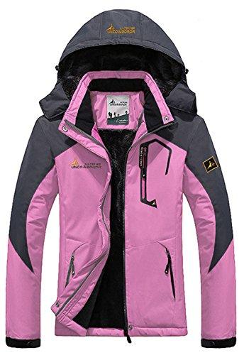 Chaqueta Libre Aire Ropa de Sawadikaa Chubasqueros Mujer Nieve Al Deporte Rosado Excursionismo de Esquí Capa Chaqueta Lana Impermeable de 0wxx5qRY