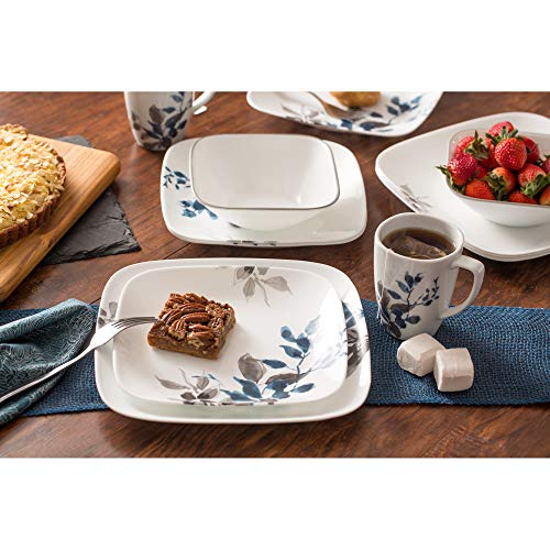Corelle Boutique Square Kyoto Night 16-Piece Dinnerware Set, Service for 4 by Corelle (Image #7)