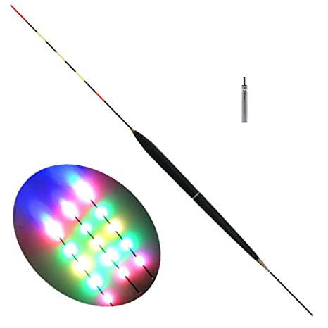TOOGOO 1 Pieza Flotador de Pesca Luz de Flotador electrica LED Aparejo de Pescar Flotador electronico