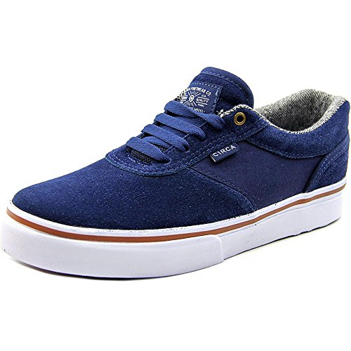 C1RCA Men's Gravette Skateboarding Shoe, Dress Blues/White, 13 M US