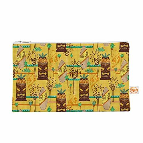 Kess eigene 12,5x 21,6cm Jane Smith Surfen Tiki Alles Tasche, Gelb Muster