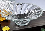 Italian Collection Crystal Bowl, Decorated with Vertical Stripe Swarovski Crystal