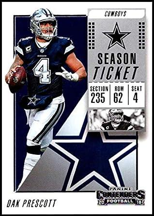7d06f47c6 2018 Panini Contenders Season Tickets  72 Dak Prescott NM-MT Dallas Cowboys  Official NFL