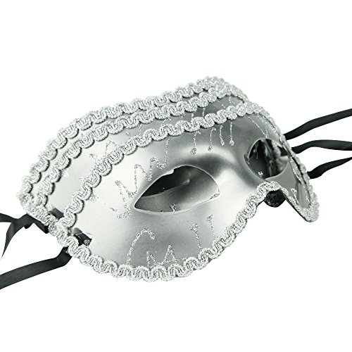 iFANS Silver Pack of 3 Masquerade Masks For Nightclub Dance Party SALE ()