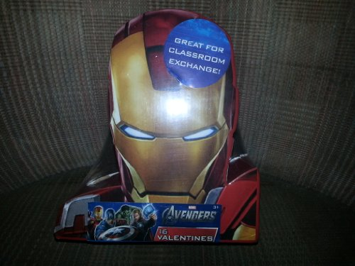 2013 Valentines Day Cards 16 Pack - Iron Man (Avengers) By Paper Magic Group ()