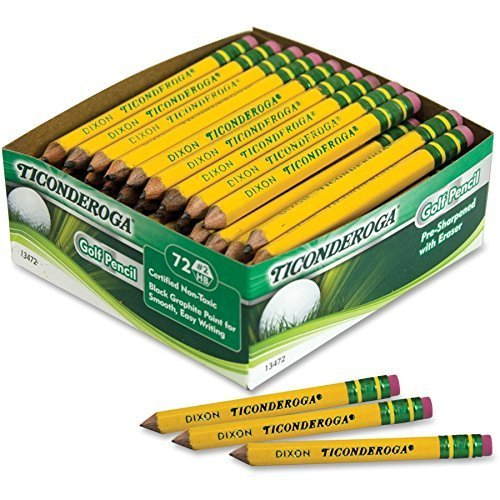 Ticonderoga - Golf Pencil (72 Count) (2-Pack)