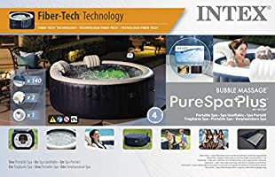 Spa hinchable Intex PureSpa Plus 4 plazas redondo Ø196 LED ...