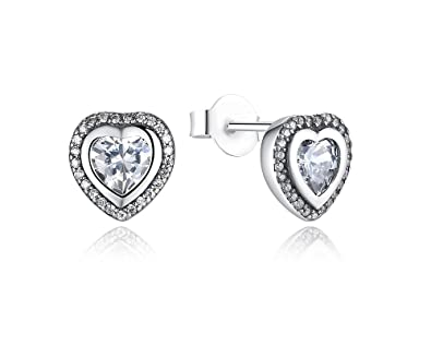 feef0deafbef Amazon.com  Aretes De Plata 925 Women Finos Para Mujer a la Moda 2018  Sterling Silver One Love for Women Fine Jewelry AR0019  Jewelry