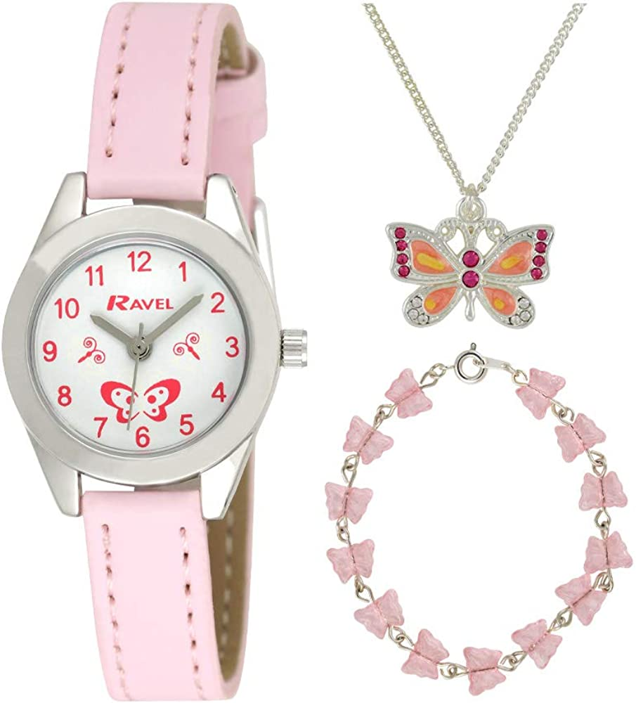 Ravel 'Little Gems' Butterfly Watch and Silver Plated Jewellery Set