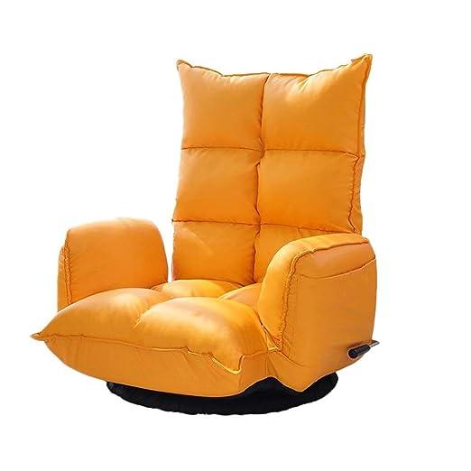 KJRJSF Silla reclinable Individual Asiento Acolchado Cuero ...