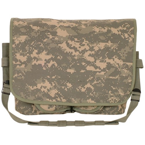 ACU Digital-Tarnung Leinwand israelische Fallschirmjäger Shoulder Bag - 11 x 15 x 4, gepolsterte Messenger Bag