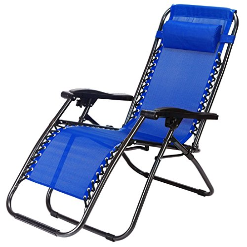 New Zero Gravity Chairs Case Of 2 Navy Lounge Patio Chairs Outdoor Yard Beach TKT-11 (Furniture Wrought Cape Town Patio Iron)