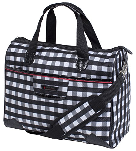 ricardo-beverly-hills-san-diego-tote-black-and-white-checkered-print-under-seat