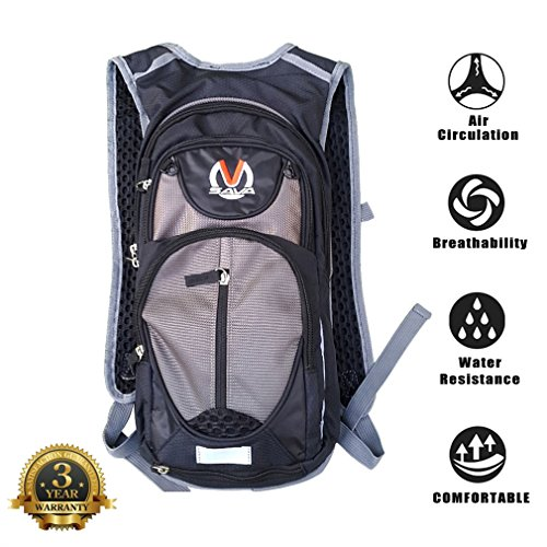 f213c69f528f SAVADECK 15L Water-Resistant Cycling Backpack Cycle Bike Shoulder Hydration  Bladder Bag Biking Rucksack with Safety Reflective Sections and  Helmet-Mounted ...