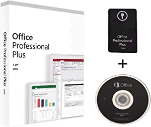 Office 2019 Professional Plus Formal Version | Full Retail Pack With DVD Driver | For 1 PC