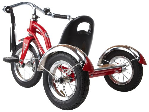 d03e40f142c Schwinn Roadster Tricycle with Classic Bicycle Bell and Handlebar Tassels,  Featuring Retro Steel Frame and Adjustable Seat, for Children and Kids Ages  2-4 ...