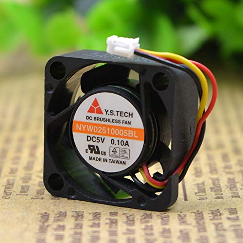 REFIT NYW02510005BL 2510 5 v 0.1 A 0.1 cm//cm Ball Micro Cooling Fans