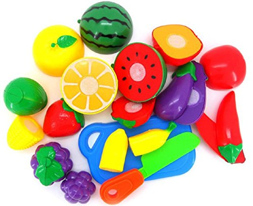 VESNIBA 1Set Cutting Fruit Vegetable Pretend Play Children Kid Educational Toy (2)