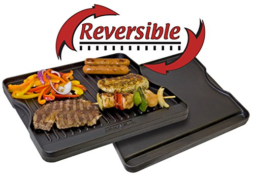 Camp Chef CGG16B Reversible Pre-Seasoned Cast Iron Grill/Griddle
