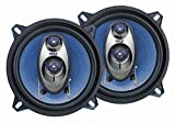 "93 dodge dakota dash cover - 5.25"" Car Sound Speaker (Pair) - Upgraded Blue Poly Injection Cone 3-Way 200 Watt Peak w/Non-fatiguing Butyl Rubber Surround 100-20Khz Frequency Response 4 Ohm & 1"