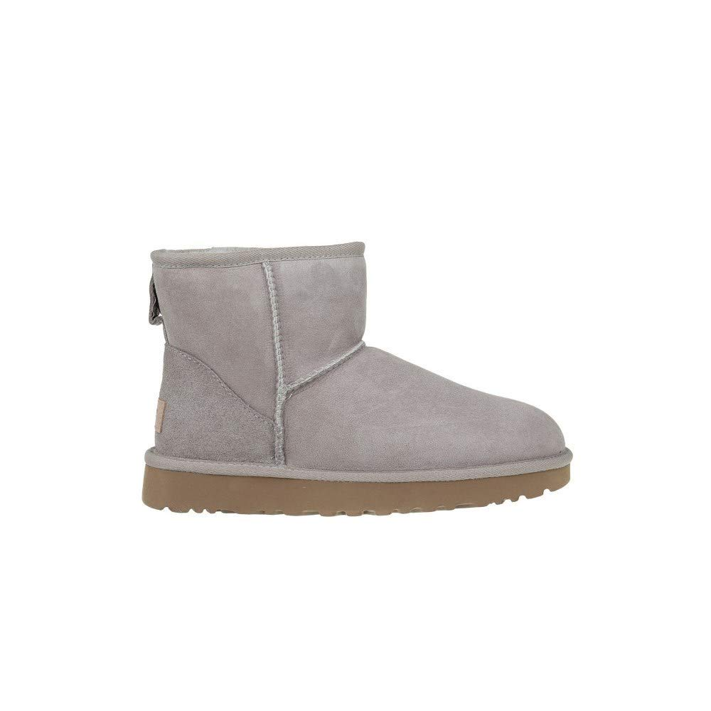 Ugg Womens Classic Mini Ii Suede Sheepskin Pull On Boot Oyster