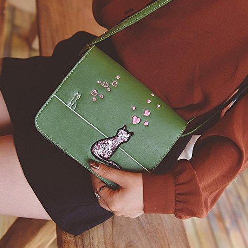 Bovake - Bolso bandolera niña Mujer Verde