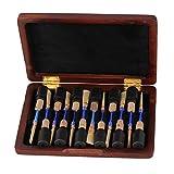 Maroon Handmake Oboe Reed Case Protector- Natural Wood Holds 12pcs Oboe Reeds