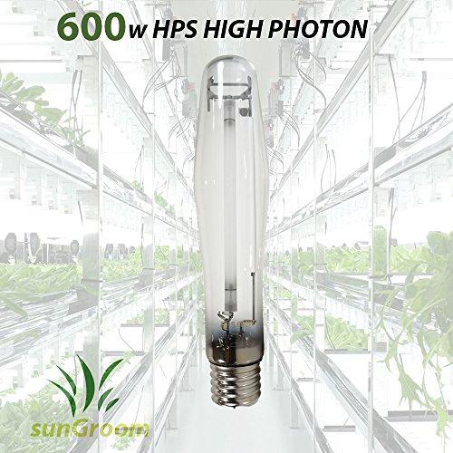sunGROOM Horticulture 600 Watt High Pressure Sodium Hps Grow Room Light (High Pressure Sodium Kits)