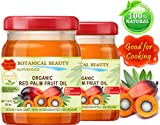ORGANIC RED PALM FRUIT OIL Brazilian. 100% Pure / Refined / Undiluted Cold Pressed. SUPER FOOD. GOOD FOR COOKING. 7.75 Fl.oz – 225 ml. ( PACK 2 )