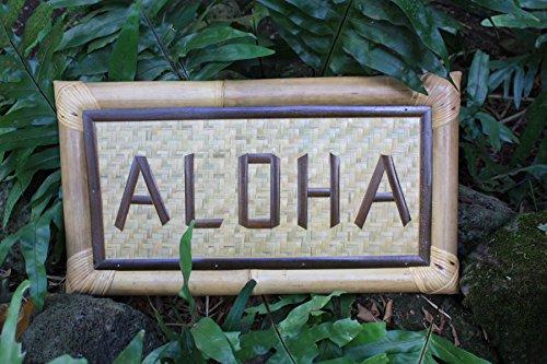 Aloha Tiki Sign - BAMBOO TROPICAL SIGN