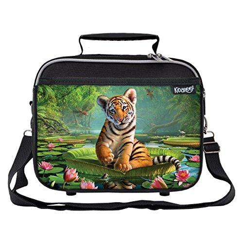 Child Tiger Kit (Tiger Lily School Lunchbox for Girls, Boys, Kids (Black))