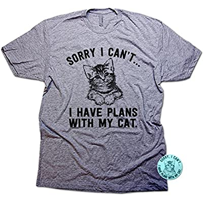 Cat shirt Sorry I Can't I Have Plans with My Cat Funny Unisex T-Shirt...