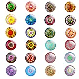 24 Pieces Beautiful Glass Refrigerator Magnets, Pretty Fridge Magnets for Office Cabinet Refrigerator Whiteboard Photo