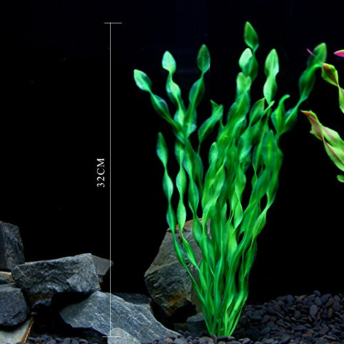 Geekercity green kelp design aquarium decor fish tank for Artificial kelp decoration