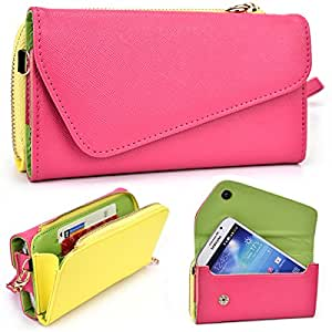 Kroo Urban Magenta / Yellow Wallet fits Boost Max case