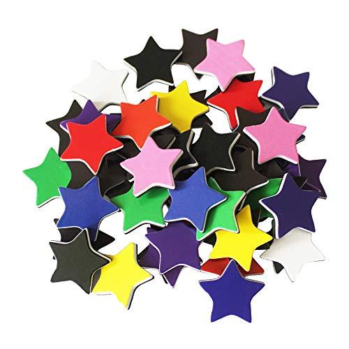 50-Pcs Star-Shaped Colored Magnets for Presentation Whiteboard/Chalkboard, Teaching Resources for Fridge/Magnetic Sheet/Behavior Chart/Calendar/Lockers, Pentagram