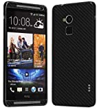 Skinomi TechSkin - HTC One Max Screen Protector + Carbon Fiber Full Body Skin / Front & Back Premium HD Clear Film / Ultra Invisible and Anti Bubble Shield