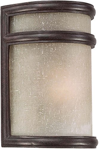 Minka Lavery Outdoor Wall Light 9811-166 Delshire Point Exterior Pocket Sconce Lantern, 60 Watts, Bronze