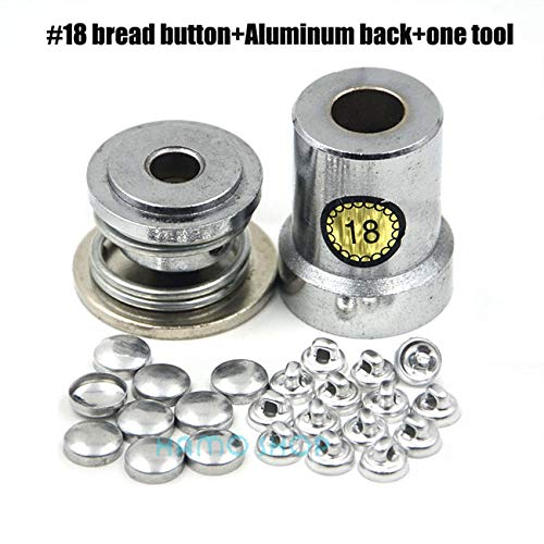 - High Quality | Buttons | 100Set/lot #16-60 13sizes Round Fabric Aluminum Covered Cloth Button W/1 Tool Metal Bread Shape for Handmade DIY Free Shipping | by HeroBar991
