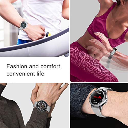 UMO Smart Watch, Fitness Tracker with Heart Rate Monitor, Blood Pressure Meter, Step Sleep Tracking, Multi-Function Business Electronic Watch with Full Screen for Lovers