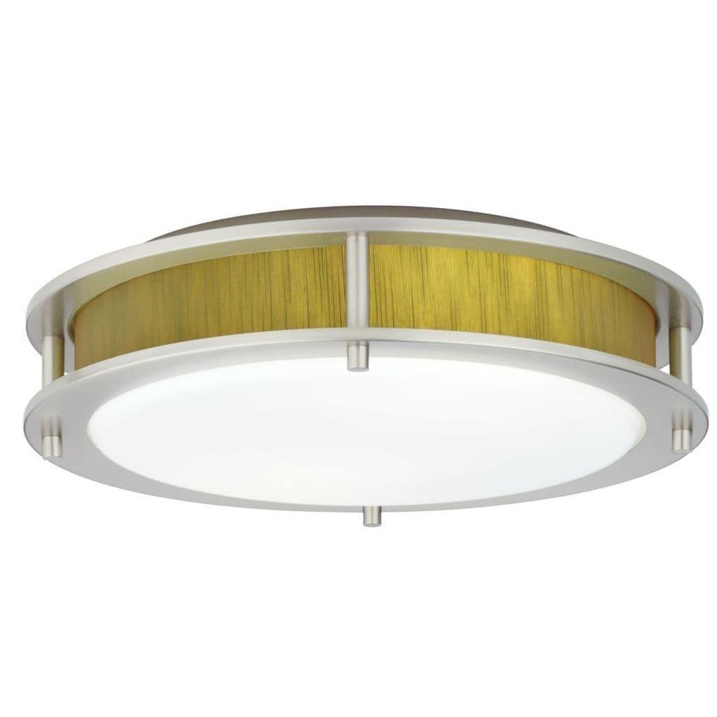 Satin Nickel Hart lighting 1001SN1222 Beautility 2-Light Semi-Flush with Fabric