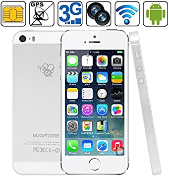 goophone teléfono móvil teléfono i5S 16GB Plata, 4.0 pulgadas 3G ...