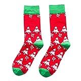 Christmas Long Socks,Women Cotton Xmas Tree Multi-Color Printed Leg Warmer Winter Warm Socks (Free Size, D)