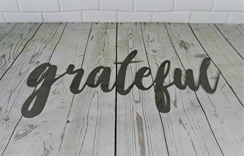 Raw Steel Unpainted Word Art - grateful small size (Art Custom Word)
