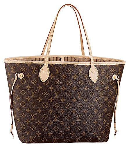 Louis Vuitton Monogram Canvas Bag (Louis Vuitton Neverfull MM Monogram Canvas Handbag Shoulder Bag Tote Purse)
