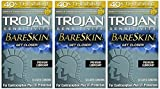 Trojan Sensitivity Bareskin Lubricated, Latex Condoms, 10-count - 3 Packs