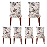 Jiuhong Stretch Removable Washable Short Dining Chair Protector Cover Slipcover (6, Style 01)