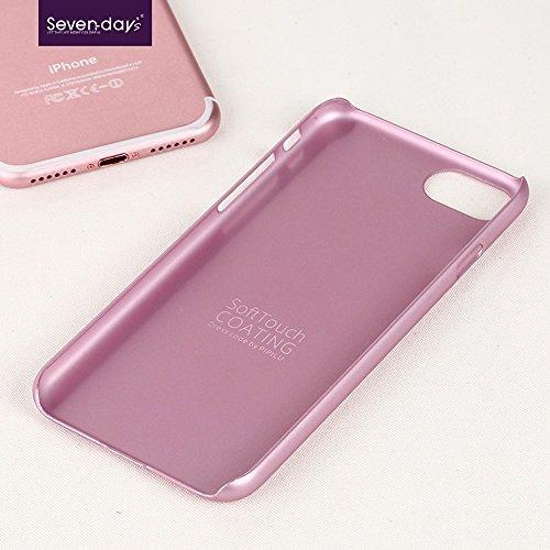 X-LEVEL Rubberized Thin Hard Plastic Tasche Hüllen Schutzhülle Case für iPhone 7 - Pink
